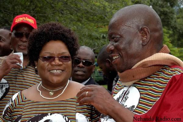 Vice President Joice Mujuru with her husband retired General Solomon Mujuru (picture by John Cassim)
